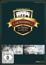 Kartenspiele 21 in 1 - Deluxe Box Edition | CD-ROM | NEU+OVP!!!