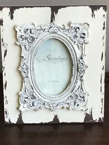 """NEW STONEBRIAR COLLECTION WEATHERED WOOD BAROQUE DETAIL PICTURE FRAME 4"""" x 6"""""""