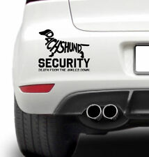 Dashund Security Sticker Death From The Ankles Down Dashund Owners Dog Walkers
