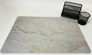 Schreibtischunterlagen Set Marmor 40 x 60 cm mit Stifteköcher und Briefhalter