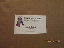 Texas-Louisiana League Amarillo Dillas Vintage Logo Baseball Business Card