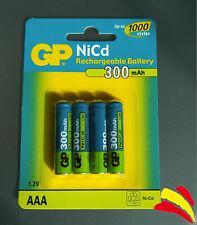4 x Baterías recargables Pilas GP Batteries AAA R03  R3 300mAh Rechargeable NiCd