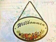 Plaque émaillée -Message allemand -deco jardin jardinage - Frais de port inclus