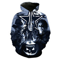 Dallas Cowboys Halloween Hoodie Sports Pullover Hooded Sweatshirt Casual Jacket