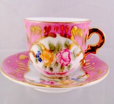 Victoria's Garden Child's Doll Size Mini Flowers Teacup Saucer NWT BOX B6-13