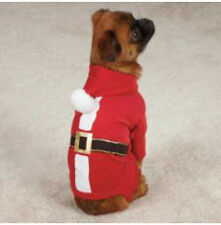 Dog Red Santa Pajamas Casual Canine XS poly/cotton Unisex  zm1306