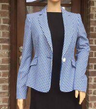NWT ZARA SHORT JACQUARD BLAZER Jacket Coat ECRU/BLUE Ref. 2148/321_S