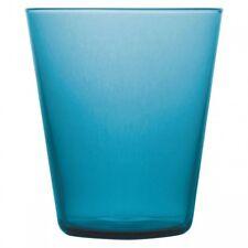 Brilliant - Boho Ocean Blue Glass Tumbler 8.8oz. Set of 4