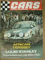 VINTAGE MAGAZINE CARS AND CAR CONVERSIONS MARCH 1978