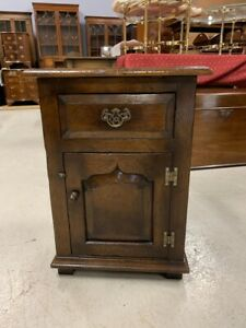 Great Quality Small Solid Oak Cupboard/ Bedside possibly by Titchmarsh & Goodwin