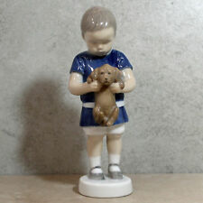 "Bing & Grondahl B&G Figurine 1747, Ole (Boy with Puppy), 6.5""H -No Box"