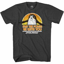 Star Wars Fly PORG Last Jedi Adult Tee Graphic T-Shirt for Men Tshirt