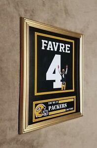 Green Bay Packers Brett Favre 8x10 Framed Jersey Photo