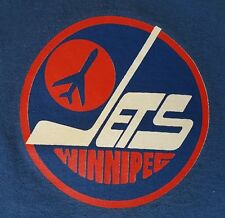 Winnipeg Jets Men's T-Shirt Vintage Hockey Bulletin Ringer Size XXL