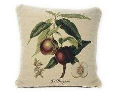 DaDa Bedding Elegant Novelty Floral Fruit Square Accent Pillow Cushion Cover