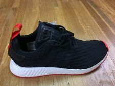 ca032f8fbfa Adidas NMD R2 PK Nomad Shoes Mens Sz 9.5 Primeknit Trainer Black Red White