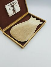 STONEWARE PINEAPPLE SHAPED SERVING PLATE DISH PINATUBO ASHGLAZE HAND MADE BOX
