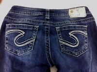 Silver Jeans Aiko Bootcut Blue Dark Wash Jeans Womens Size 25x31