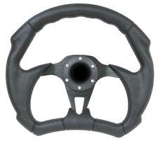 "Golf Cart Steering Wheel 12"" Black D Shape - Karts, UTV, Boat, Lawnmowers"