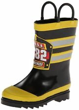 BOYS SIZE 11  WESTERN CHIEF RAIN BOOTS FIRE CHIEF F.D.U.S.A.
