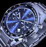 CHESTOX Herren Uhr Männer Chronograph Datum Blau Silber Farben 0101