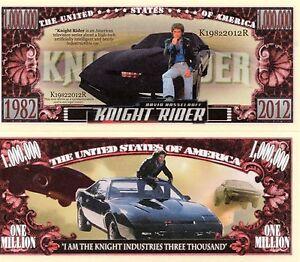 Knight Rider TV Serie Million Dollar Neuheit Geld