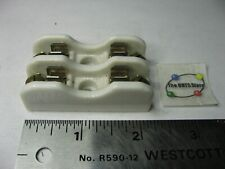 Buss 4161 15a 250v Porcelain Ceramic Double Fuse Holder 2 Pos Used Qty 1