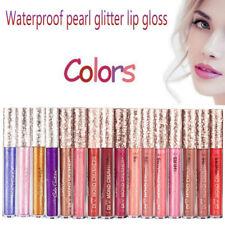 PRO Holographic Lip Gloss Metallic Diamond Lasting Lipstick Shine Holo Gla Uzlh