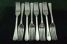 8 nice vintage Insignia plate silver plated Side Dessert Forks Athenian pattern