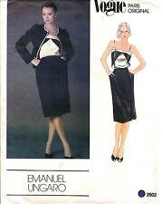 Vogue Pattern Emanuel Ungaro Women's JACKET SKIRT & CAMISOLE 2602 Sz 10 UNCUT