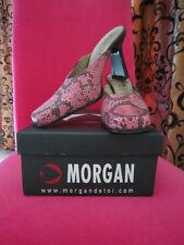 Chaussures Mules MORGAN DE TOI avec imprimé python rose T.37