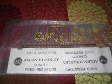 10 Allen Bradley Carbon Comp Resistors 12K ohms 1/4W RC07GF123K