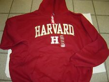 "NEW MENS NCAA ""HARVARD "" BURGANDY HOODY SWEATSHIRT SIZE XL"