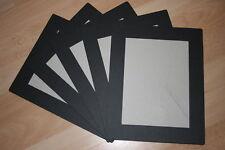 """4 SPICER HALLFIELD 8""""x6"""" PHOTO STRUT MOUNTS ~ BLACK LINEN"""