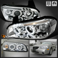 Chrome LED DRL Halo Projector Headlights For 2000-2001 Nissan Maxima