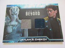 2017 Star Trek Beyond Trading Cards Jaylah & Chekov Dual Relic Costume Card DC5