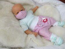 Reborn Reallife Baby Nina mit Mund-Nasen Abdeckung Rebornbaby ninisingen Puppe