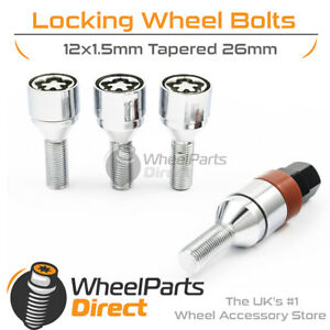 GEN2 Premium 12x1.5 Lock Bolts for Opel Astra [F] 91-02 on Aftermarket Wheels