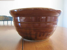 """MONMOUTH POTTERY BROWN BEEHIVE 8"""" MIXING BOWL"""