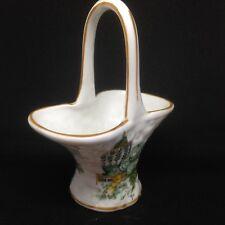 Decorative Porcelain Basket Staffordshire Fine Bone China KOWLOON Made England
