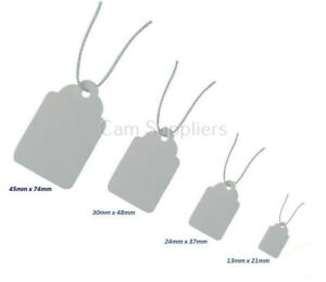SMALL MEDIUM LARGE WHITE TAGS STRING Craft Gift Present Tags Labels Christmas