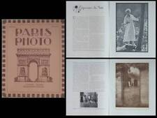 PARIS PHOTO 1920 - REVUE, PICTORIALISME, EDOUARD PAYOT, REUTLINGER, CHAPMAN