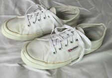 SUPERGA White CANVAS classic SNEAKERS Shoes Womens 7.5 Men 6 EUR 38 Used uni-sex