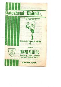 Gateshead United v Wigan Athletic 1974- 1975  NPL