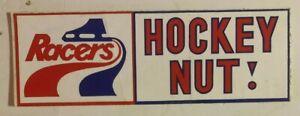 1970's Indianapolis Racers Team Logo Bumper Sticker Hockey Nut WHA