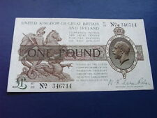 Great Britain and Ireland One Pound note, 1919 issue, Waren Fisher signature