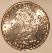 1887 S Morgan silver dollar - BU, RARE, Great Cartwheel Luster 3700
