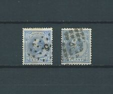 PAYS-BAS - 1872-88 YT 19 et 19a - TIMBRES OBL. / USED