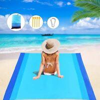 Beach Blanket 79''×83'' Large Outdoor Picnic Waterproof Sand Proof Beach Mat