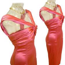 DOLCE & GABBANA Bright  Coral   Stretch SILK blend  Dress